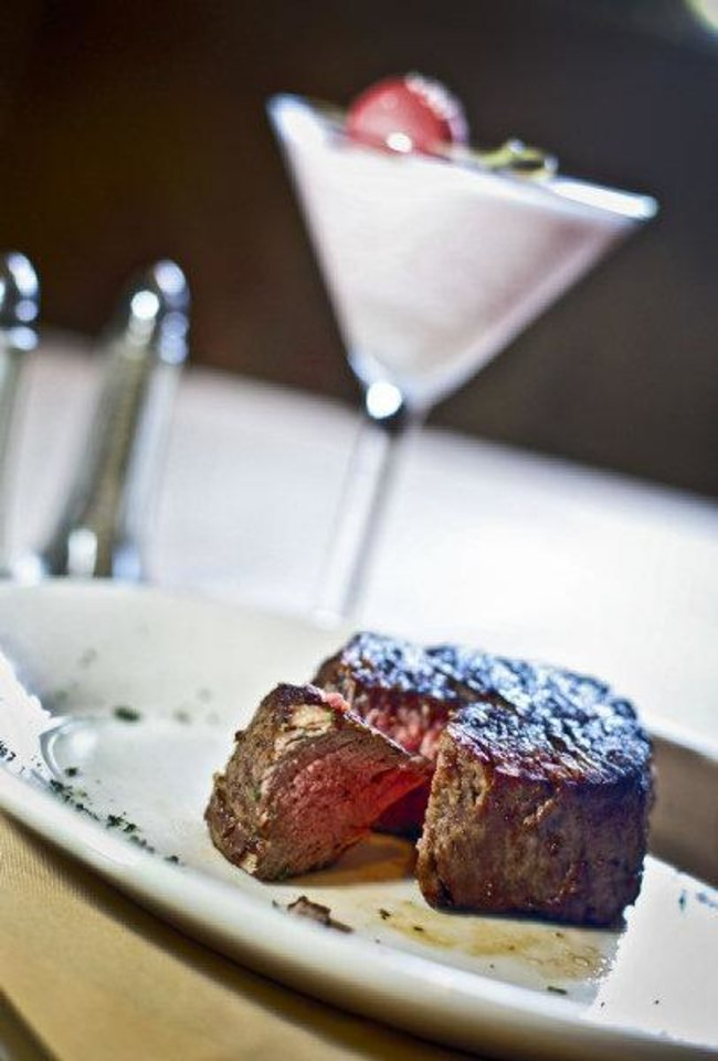 Center-cut filet at Boulevard Steakhouse in Edmond. Photo by Chris Landsberger, The Oklahoman. <strong>CHRIS LANDSBERGER</strong>