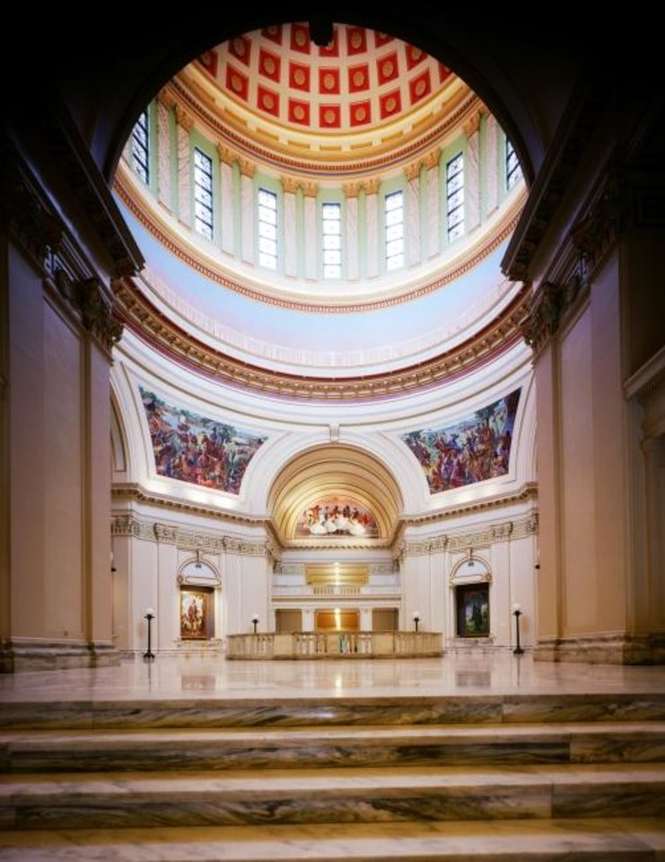 Photo -  FSB's work on the State Capitol Dome completed the historic structure as originally designed and included awe-inspiring vaulted interior spaced under the dome. [PHOTO PROVIDED BY FSB]