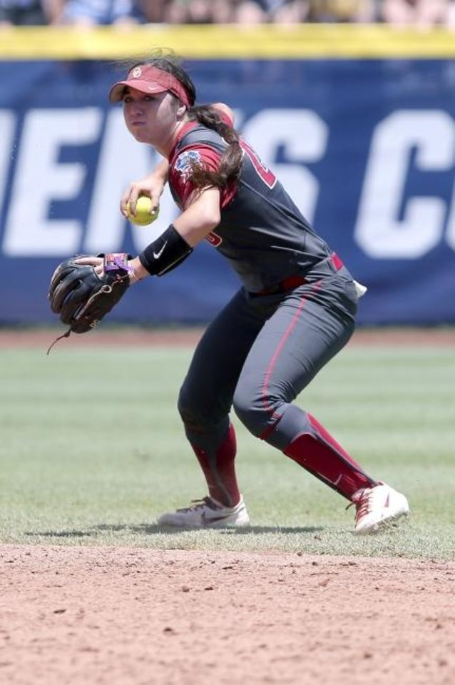 Photo -  Oklahoma's Caleigh Clifton hit two home runs and knocked in six runs in the series against Utah. [Sarah Phipps/The Oklahoman]