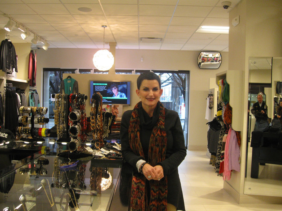 Photo -  Jan Smith opened 200 Park for Her in March, 2013, and wishes Park Avenue could be home to more stores, including a casual men's clothing shop and a shoe store.        Steve Lackmeyer  -  Steve Lackmeyer