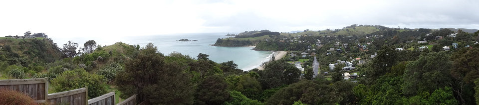 Photo - A panoramic view of Waiheke Island. shows supplies for residents arriving via ferry.  PHOTO BY DAMON FONTENOT, THE OKLAHOMAN