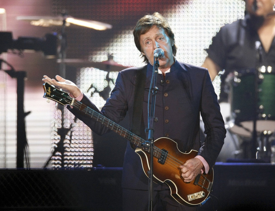 Paul McCartney performs on Aug. 17, 2009, at Tulsa�s BOK Center. Photo by TOM GILBERT, Tulsa World archives