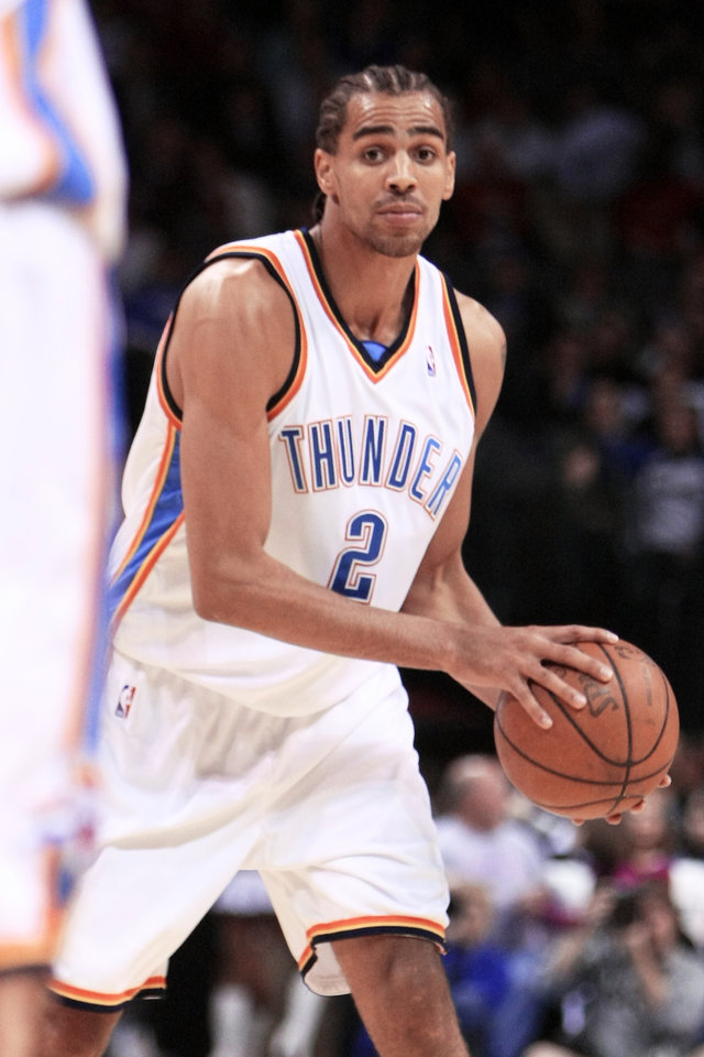 Thabo Sefolosha has averaged 14.3 points over the past four games for the Thunder. Photo by hugh scott, the oklahoman