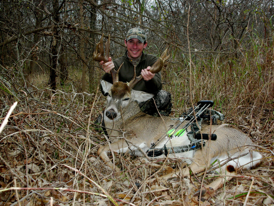 Photo -  Matt Allen of Oklahoma City took this 13-point buck at Arcadia Lake