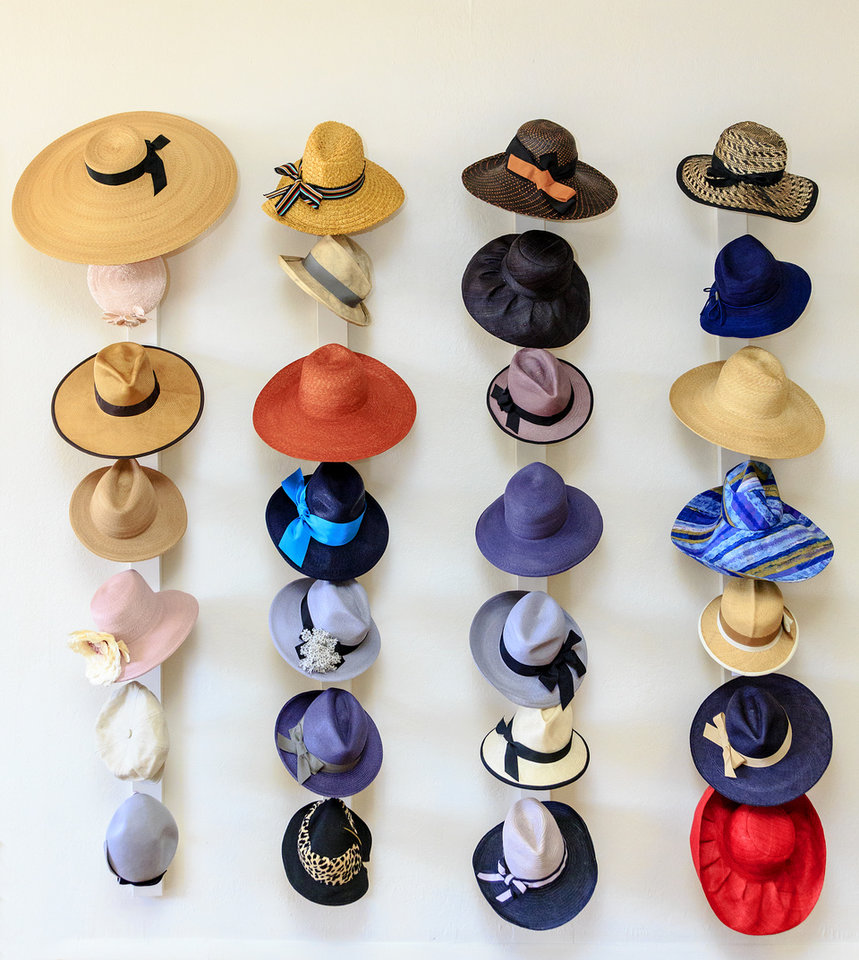 Photo -  Hats on display at Ladies and Gentlemen Fine Millinery Shop in The Paseo District. Photo by Chris Landsberger, The Oklahoman   CHRIS LANDSBERGER -  CHRIS LANDSBERGER