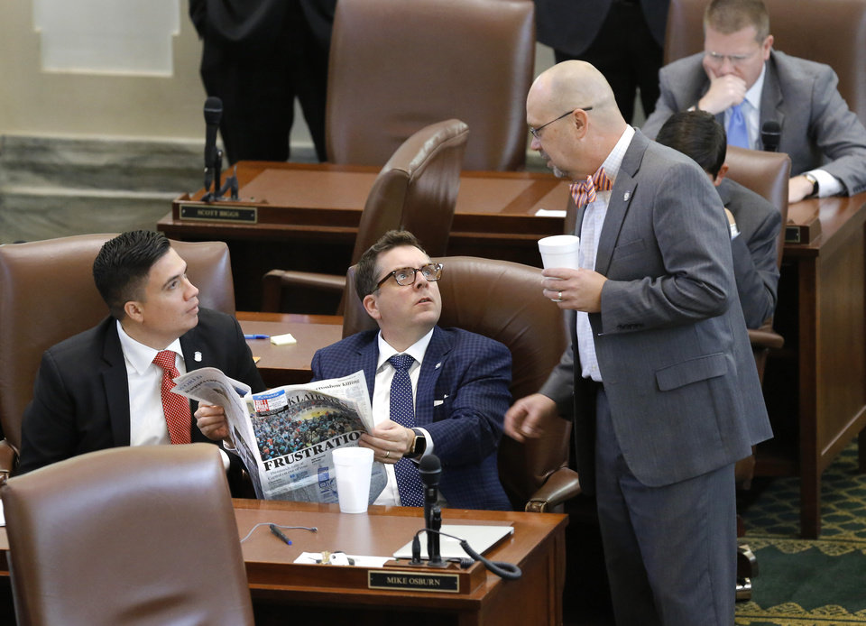 Photo -  The Oklahoma House failed to pass a package of tax increases on Wednesday, effectively killing the latest effort to fill a $215 million budget hole after a monthlong special session. The package included a $1.50-per-pack cigarette tax, a six-cent tax increase on gas and changes to the way Oklahoma taxes low-point beer and cigars. It would have covered much of the budget shortfall while still requiring the Legislature to make budget cuts. [Photo by Jim Beckel, The Oklahoman]