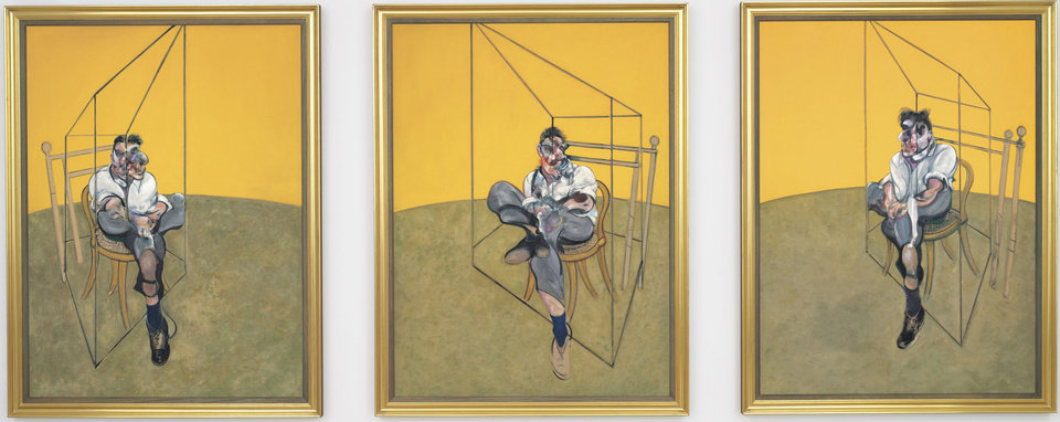 "This undated photo provided by Christie's shows ""Three Studies of Lucian Freud,"" a triptych by Francis Bacon of his friend and artist Lucian Freud. The 1969 painting by Bacon set a world record for the most expensive artwork ever sold at auction when it sold Tuesday evening Nov. 12, 2013 for $142.4 million. (AP Photo/Christie�s)"