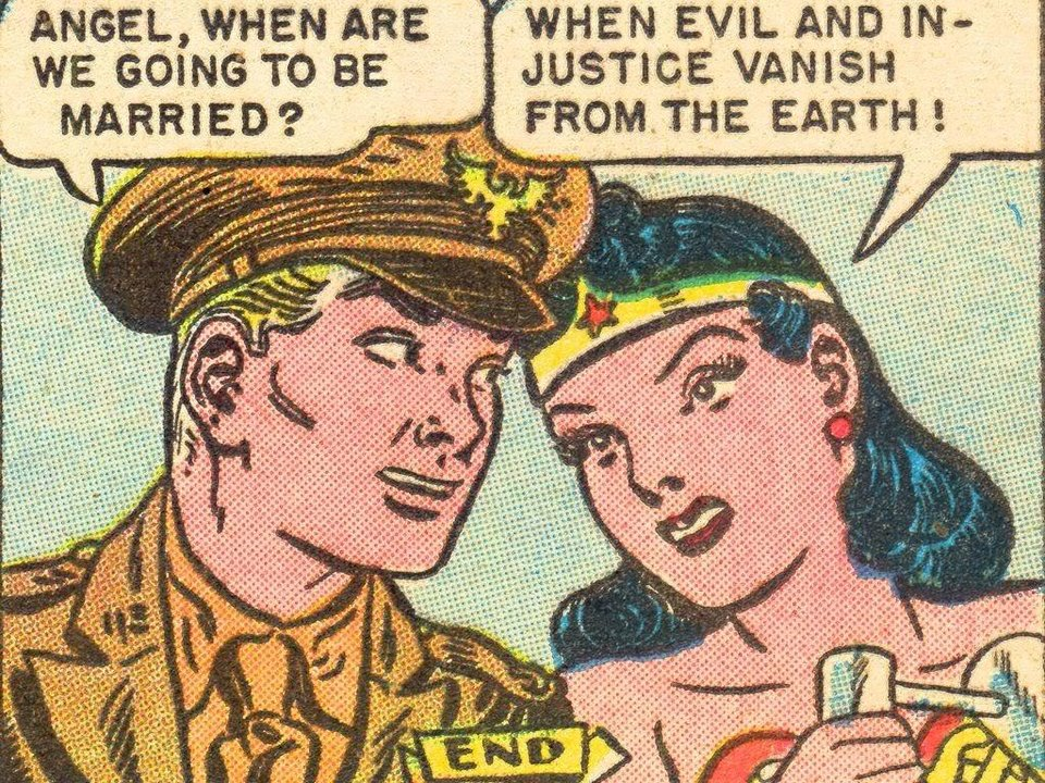Photo - Wonder Woman and Steve Trevor [DC Comics]