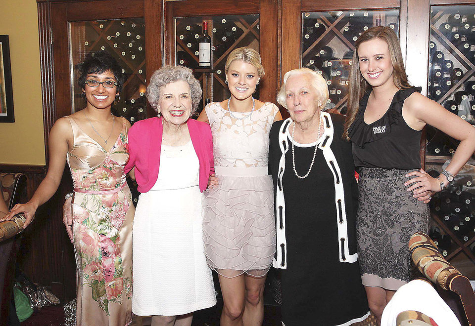 Photo - Sheila Ramgopal, Nona Kinney, Britney, Marguerite and Amber Martin.  PHOTO BY DAVID FAYTINGER, FOR THE OKLAHOMAN