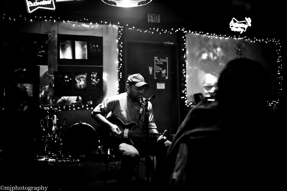 Photo -  Brad Fielder performs live at the Bluebonnet Bar in Norman. Photo provided by Marissa Johnson   marissa johnson -  Marissa Johnson