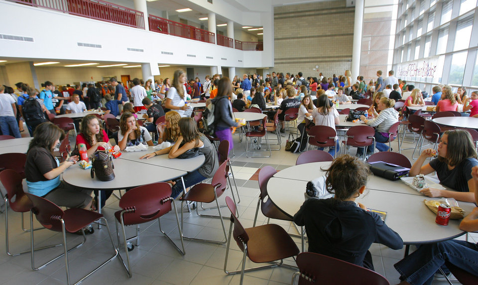 The Lunch Room In The Freshman Academy At Edmond Memorial High School