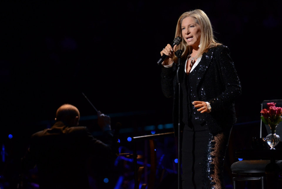 Photo -   Singer Barbra Streisand kicks off her concerts in Brooklyn at the Barclays Center on Thursday Oct. 11, 2012 in New York. (Photo by Evan Agostini/Invision/AP)