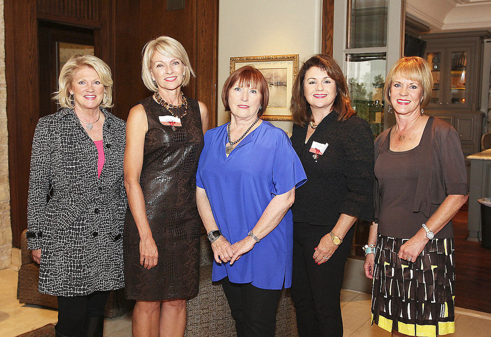 Barbara Simons, Amy Dunn, Cassie Bowen, Elaine Jackson, Lori Hill.  PHOTOs BY DAVID FAYTINGER, FOR THE OKLAHOMAN