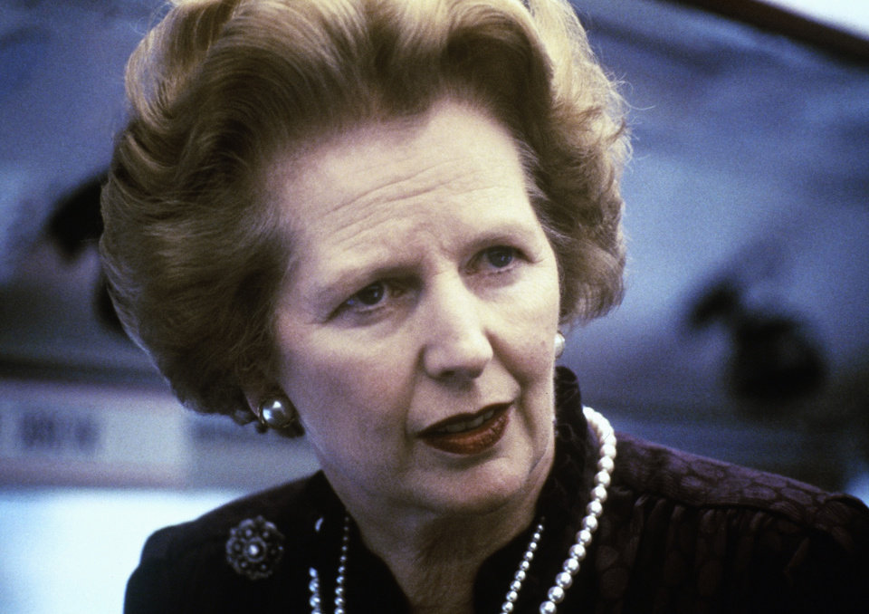 Photo - This is a 1969 file photo showing Margaret Thatcher. Ex-spokesman Tim Bell says that former British Prime Minister Margaret Thatcher has died. She was 87. Bell said the woman known to friends and foes as