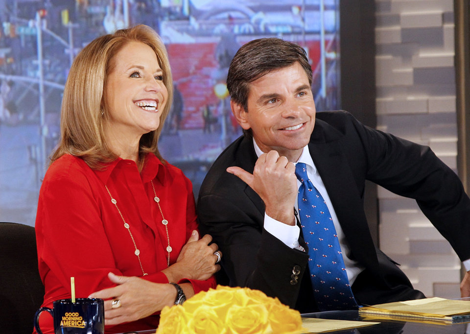Photo -   In this photo provided by the ABC Television Network, Katie Couric, left, co-hosts with George Stephanopoulos on