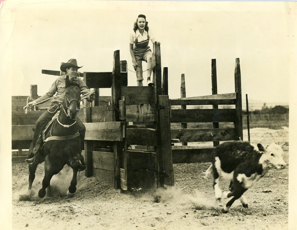 """Photo -   Oklahoma actor Ben Johnson, left, starred in many films, including """"Mighty Joe Young."""" Photos provided"""