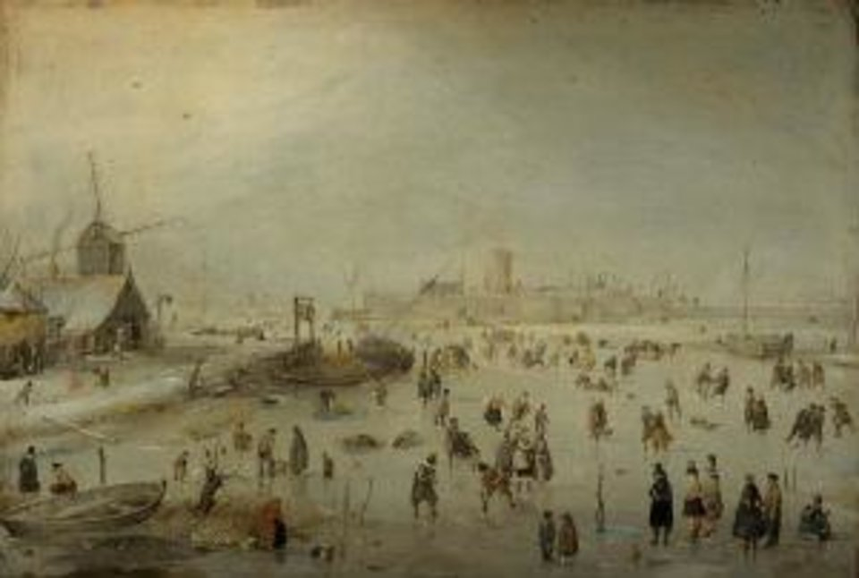 """Hendrick Avercamp's (Dutch, 1585-1634) """"Winter Landscape,"""" circa 1630, is featured in new special exhibition """"The Art of Golf"""" at the Oklahoma City Museum of Art. Photo provided. <strong></strong>"""