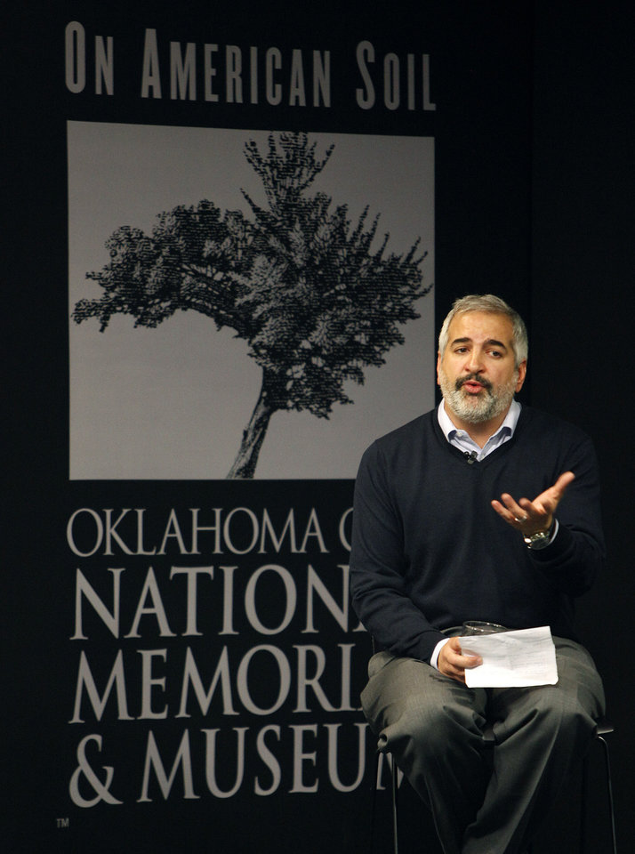 Photo - New York Times Beirut Bureau Chief and Pulitzer Prize-winning journalist Anthony Shadid speaks at the Oklahoma CIty National Memorial & Museum Thursday, April, 7, 2011. Photo by Bryan Terry, The Oklahoman ORG XMIT: KOD