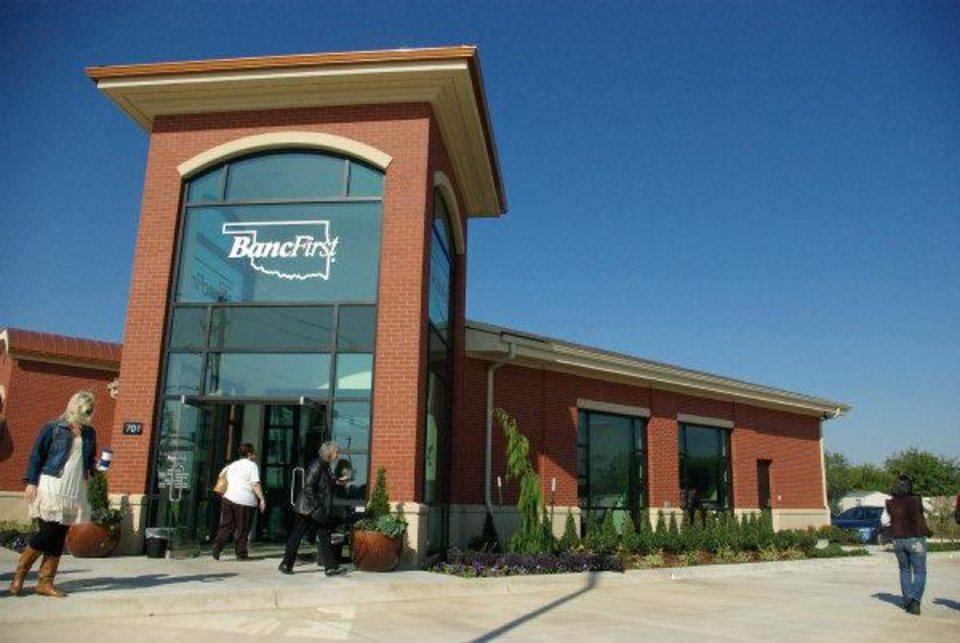 The top-ranked banking company in Oklahoma Inc. is BancFirst Corp., which recently opened this branch in Moore. BancFirst operates more than 100 service locations, including ATMs, in 50 Oklahoma communities. <strong> - PROVIDED BY BANCFIRST</strong>