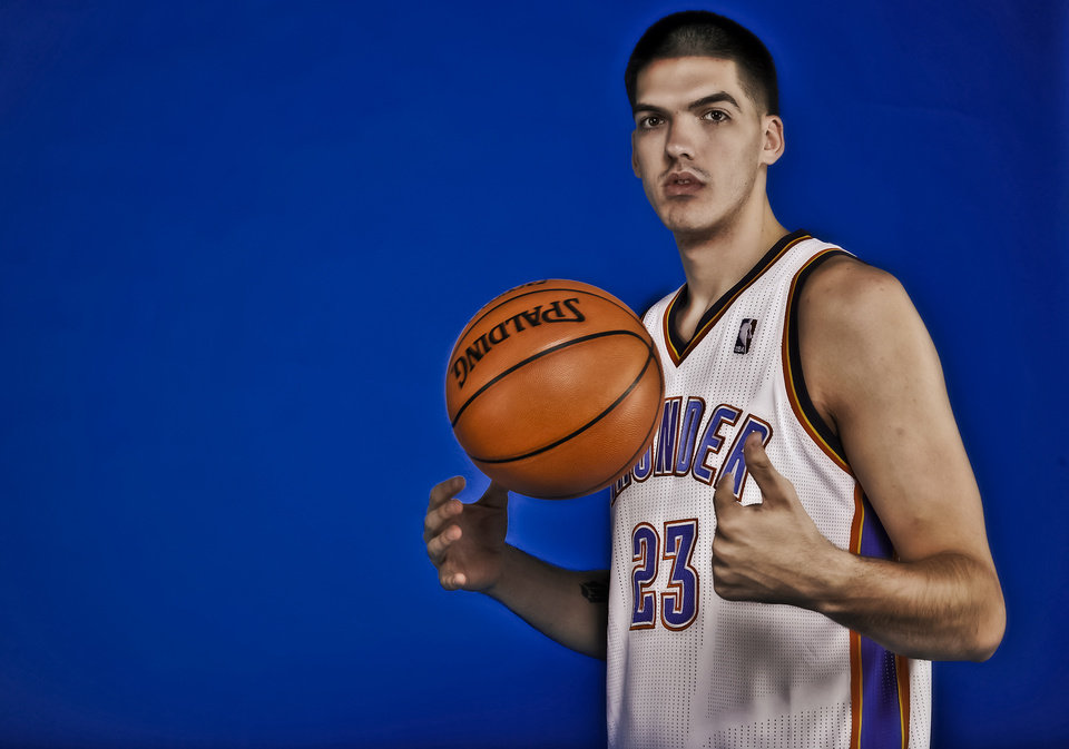 NBA BASKETBALL: Byron Mullens during the Oklahoma City Thunder media day at the Chesapeake Energy Arena in Oklahoma City, Okla. on Tuesday, Dec. 13, 2011. Photo by Chris Landsberger, The Oklahoman