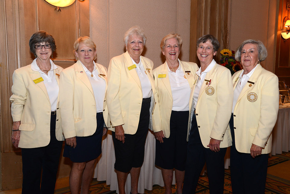 Photo -  Helen Ferneyhough, Myrna Robinson, Barbara Young, Kay Smith, Pat McKamey, Karen Korf.