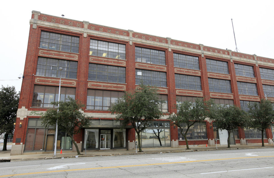 Photo - The former Fred Jones assembly plant in the 900 block of W Main Street in Oklahoma City Thursday, Nov. 21, 2013.  Photo by Paul B. Southerland, The Oklahoman