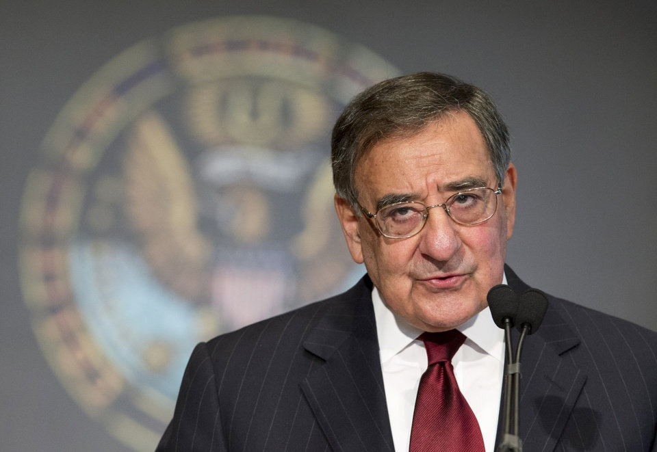 Secretary of Defense Leon Panetta delivers his speech to Georgetown University students and faculty on leadership and public service in Washington, Wednesday, Feb. 6, 2013.   (AP Photo/Manuel Balce Ceneta)