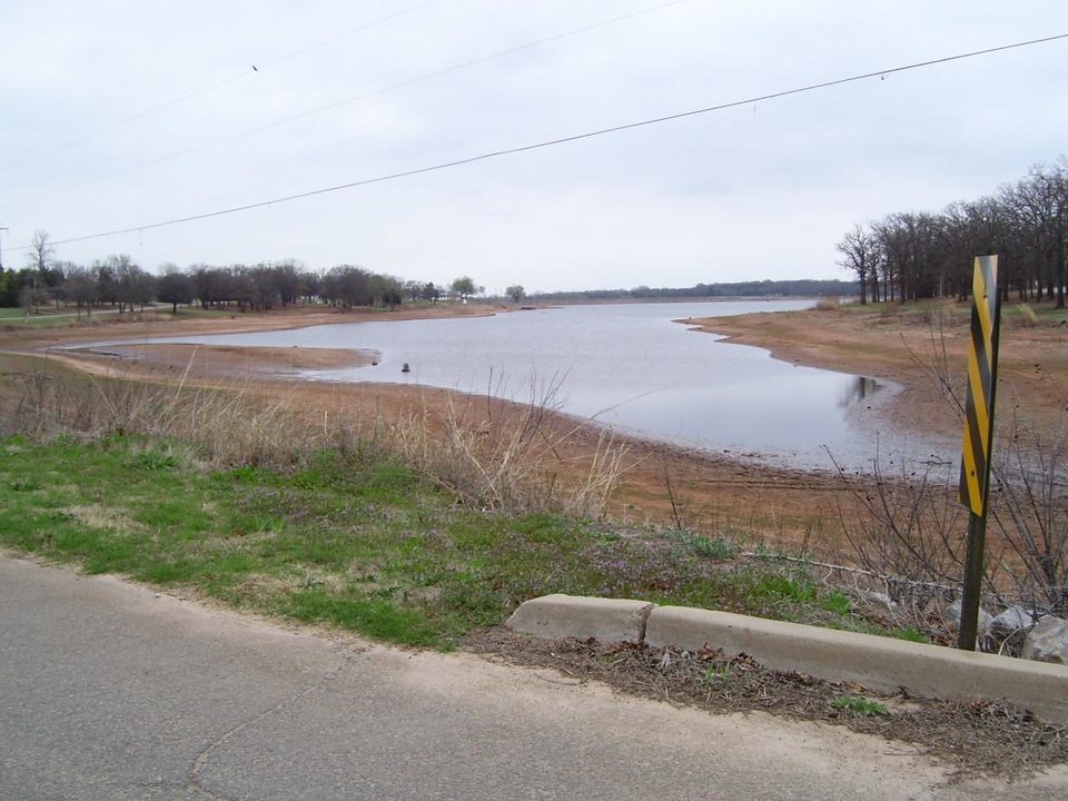 A view from the South end of Lake Guthrie taken March 20, 2007.  We need more rain!<br/><b>Community Photo By:</b> M. Blaney<br/><b>Submitted By:</b> jimmy, guthrie