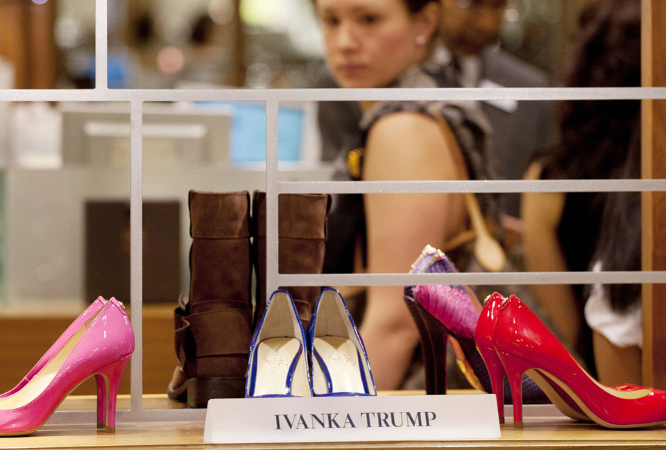 Photo -   In this Aug. 23, 2012, photo, shoes from the Ivanka Trump collection are displayed at a Lord & Taylor department store in New York. Celebrities have long dabbled in design, but with the growth of TV shows and websites that follow everything celebrities say, wear and do, interest in their clothing lines has risen in recent years. North America revenue from celebrity clothing lines, excluding merchandise linked to athletes, rose 6 percent last year to an historic peak of $7.58 billion in 2011, according to the latest figures available by The Licensing Letter, an industry trade. That's on top of a nearly 5 percent increase in 2010. (AP Photo/Mark Lennihan)