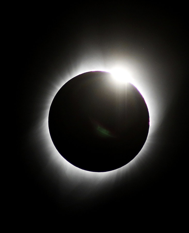 Photo - Total solar eclipse shot in Powder River, WY. on Monday, Aug. 21, 2017. Photo by Paul Hellstern , The Oklahoman