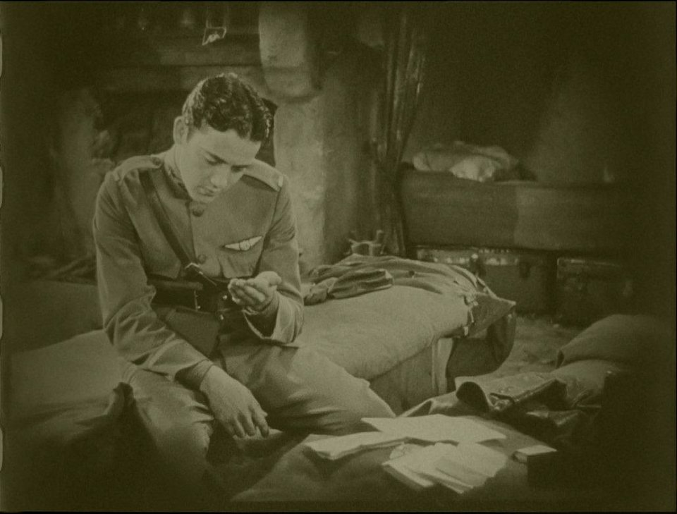 "Charles ""Buddy"" Rogers is shown in a frame of ""Wings"" after the film's restoration. PARAMOUNT PICTURES PHOTO <strong></strong>"