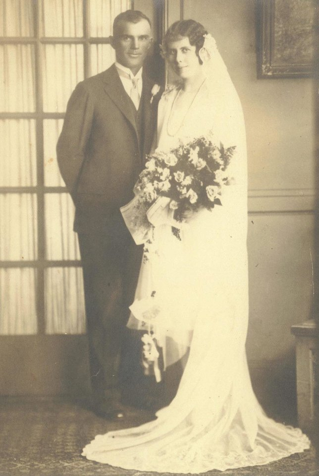 Photo - Mr. and Mrs. Victoria Bracewell married Oct. 19, 1926. Photo provided by Marcia Keele.  Provided