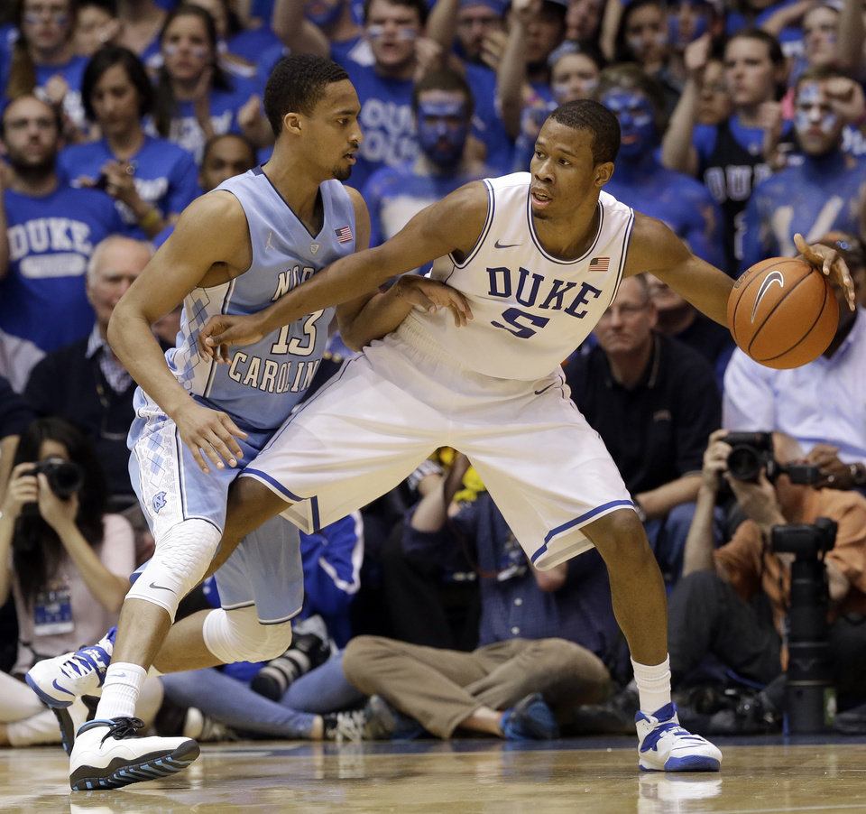 Photo -  Rodney Hood, Duke forward  Another guy whose projections place him a bit out of OKC's range (mid-teens), but it's not inconceivable to imagine him tumbling. And if he's there at 21, it may be hard for the Thunder to pass him up. He's a smooth 6-foot-8 lefty with NBA range on his jumper. One of the better shooters in this draft. And OKC is on the lookout for those. (AP Photo/Gerry Broome)