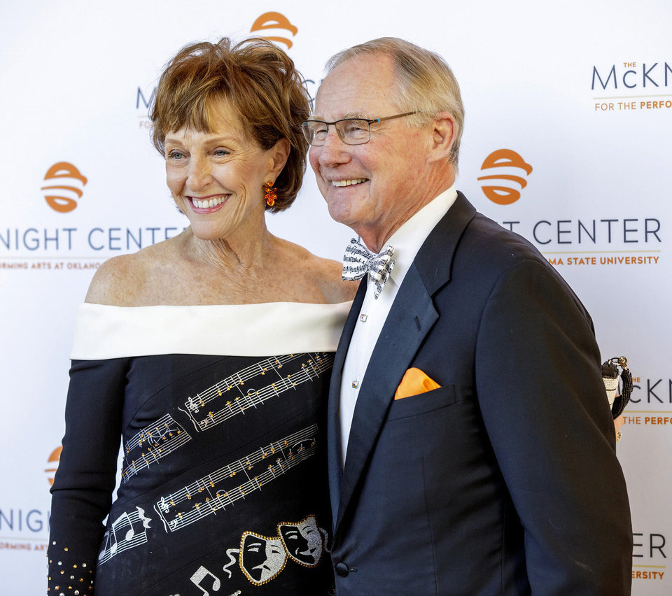 Photo - Ann and Burns Hargis. GARY LAWSON PHOTO, OSU BRAND MANAGEMENT