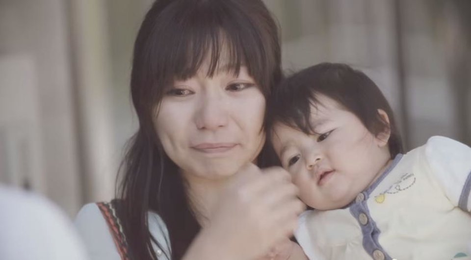 Photo -       Rather than only celebrating a baby's first birthday, Pampers expresses the importance of celebrating a new mother's first year of being a mom. (Pampers Japan YouTube screenshot)