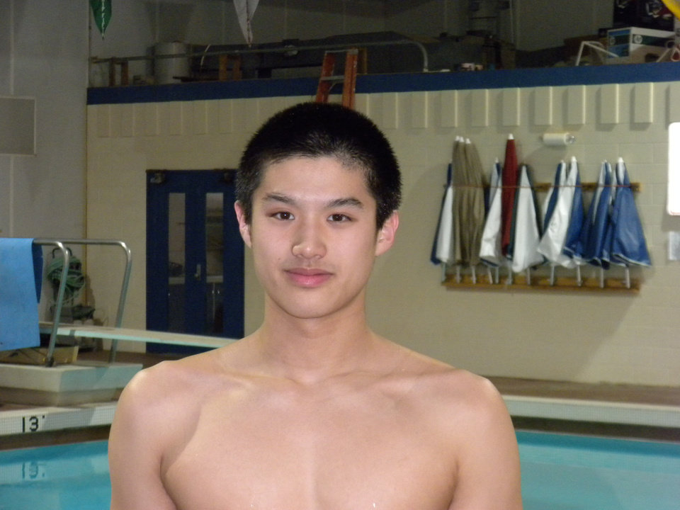 Photo - HIGH SCHOOL SWIMMING: Norman North swimmer Wilson Wei