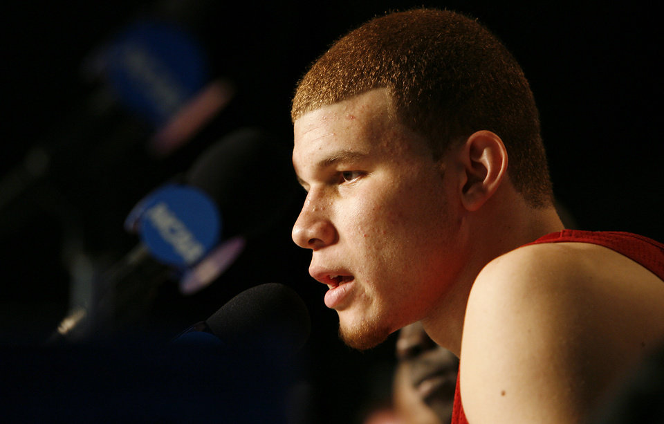 Photo - Oklahoma's Blake Griffin is widely expected to be the No. 1 pick in the NBA Draft.  PHOTO BY CHRIS LANDSBERGER, THE OKLAHOMAN