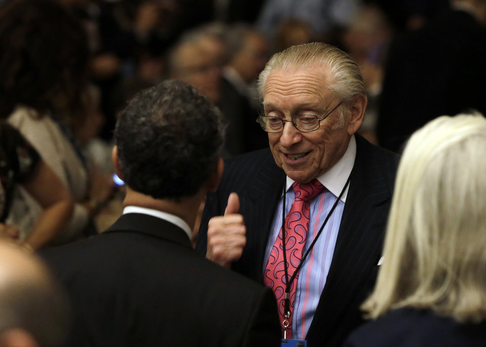 Photo - Developer Larry Silverstein attends the dedication ceremony in Foundation Hall, of the National September 11 Memorial Museum, in New York, Thursday, May 15, 2014. (AP Photo/Richard Drew, Pool)