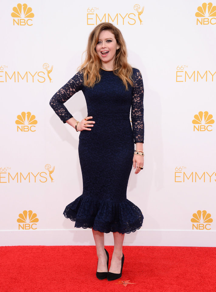 Photo - Natasha Lyonne arrives at the 66th Annual Primetime Emmy Awards at the Nokia Theatre L.A. Live on Monday, Aug. 25, 2014, in Los Angeles. (Photo by Jordan Strauss/Invision/AP)