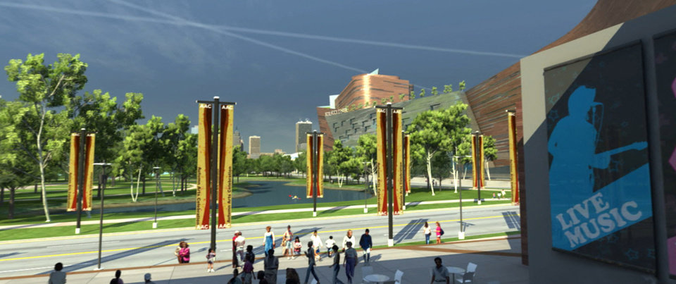 Photo - RENDERING: This conceptual view shows the southeast corner of a new