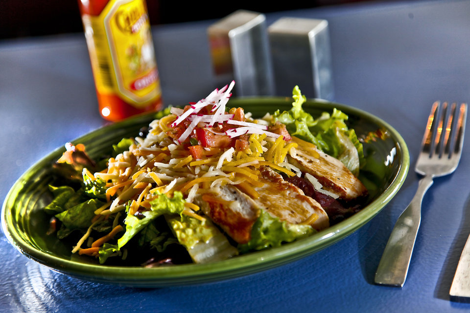 Chicken taco salad at the Iguana Cafe in the restaurants new location in the Nichols Hills Plaza on Monday, April 30, 2012, in Oklahoma City, Oklahoma. Photo by Chris Landsberger, The Oklahoman