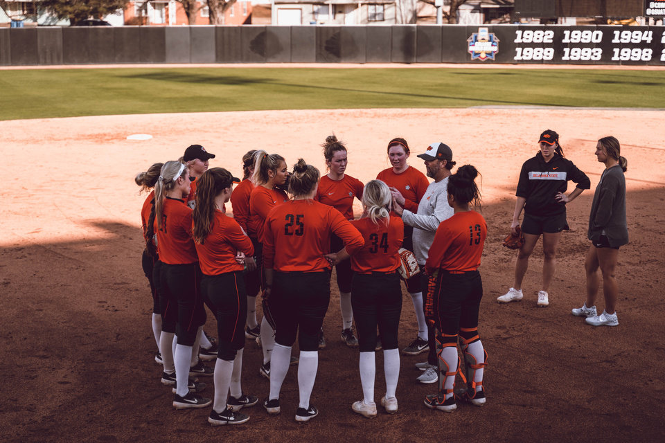 Photo - The OSU softball team started the season with a 2-2 record at LSU's Tiger Invitational over the weekend. [Photo provided by Oklahoma State Athletics]