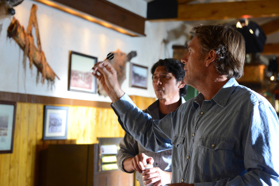 "Photo -  Robert Taylor and Lou Diamond Phillips in ""Longmire: - A&E Photo"