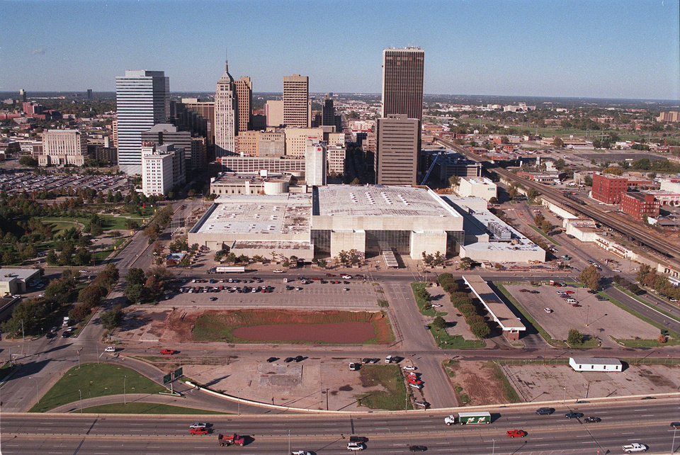 Photo - Downtown Oklahoma City was filled with vacant lots and undeveloped land prior to the advent of the city's Metropolitan Area Projects in the 1990s.  STEVE SISNEY