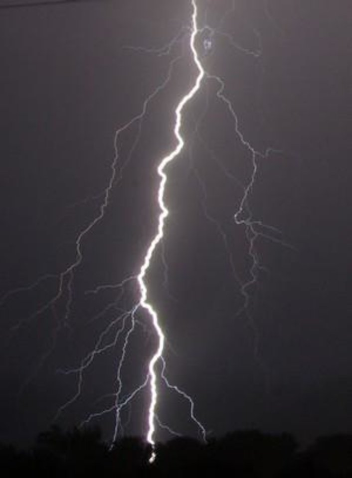 Oklahoma Lightning 2 , I love the Oklahoma thunderstorms! Photo by Vonda Barnett