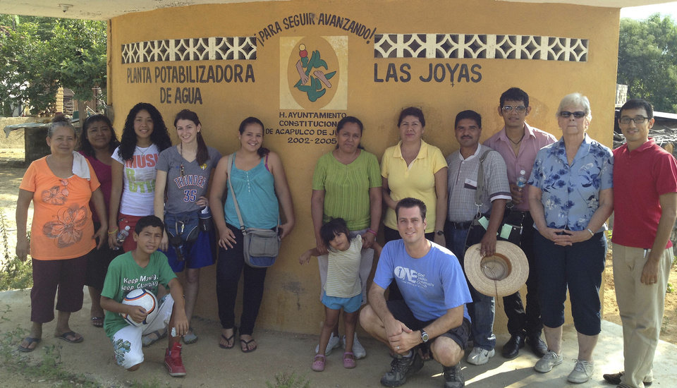 Several members of Bethel Baptist Church of Norman pose for a picture with residents of Acapulco, Mexico, during an Acapulco mission trip earlier this year. Photo provided