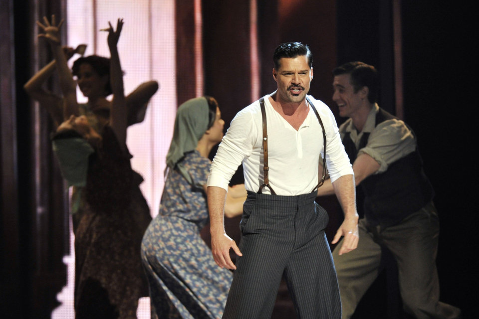 Photo -   Ricky Martin performs with the cast of