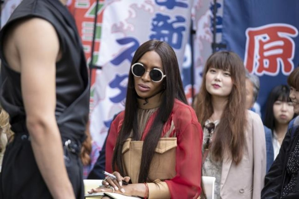 Photo -  Supermodel Naomi Campbell, center, appears in Tokyo in the hotly anticipated new Amazon Original series