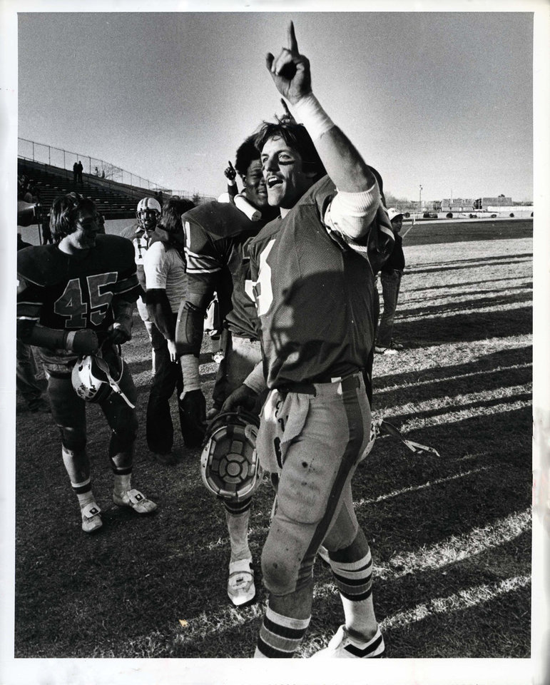 Photo - Scott Burger, quarterback for the UCO Broncos, 1979.