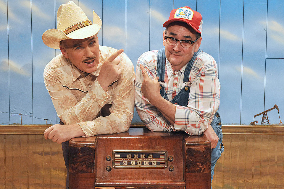 Photo - Jonathan Beck Reed as Arles Struvie and Donald Jordan as Thurston Wheelis in the Oklahoma City Repertory Theatre production of